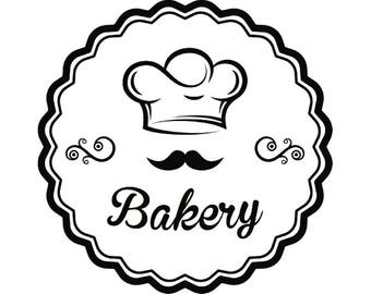 Baking Logo #5 Baked Goods Chef Hat Pie Baker Bakery Pastry Bread Kitchen Cooking Cook Homemade Food.SVG .EPS .PNG Vector Cricut Cut Cutting
