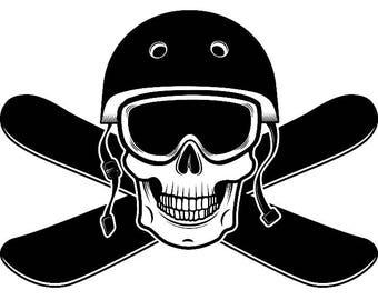 Snowboarding Logo #5 Snowboarder Snow Board Skiing Helmet Google Mask Winter Extreme Sport .SVG .EPS .PNG Clipart Vector Cricut Cut Cutting