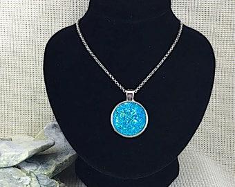 Turquoise Druzy Necklace - Druzy - Bridesmaid Gift - Druzy Necklace - Jewelry - Drusy - Necklace - Druzy Pendant - Druzy Jewelry - Pendant