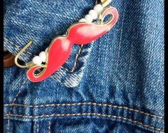 Sale~Moustache Safety Pin Brooch~5.5cm Long Safety Pin
