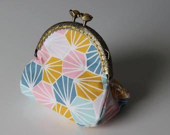 Hexagon retro purse