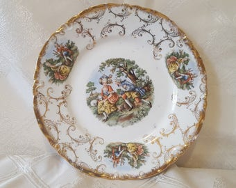 ON SALE, Vintage Pottery, Antique Plate, Antique Porcelain, Warwick Bone China, Warwick China, Antique China, Decorative Plate, Collectible