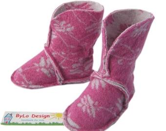 Baby booties, slippers, booties, slippers, baby shoes, baby shoes, boots, slippers, baby gift, childrens handmade slippers, pink
