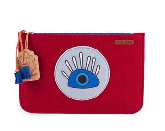 BiggDesignMy Eyes are on You Zippered Felt Bag