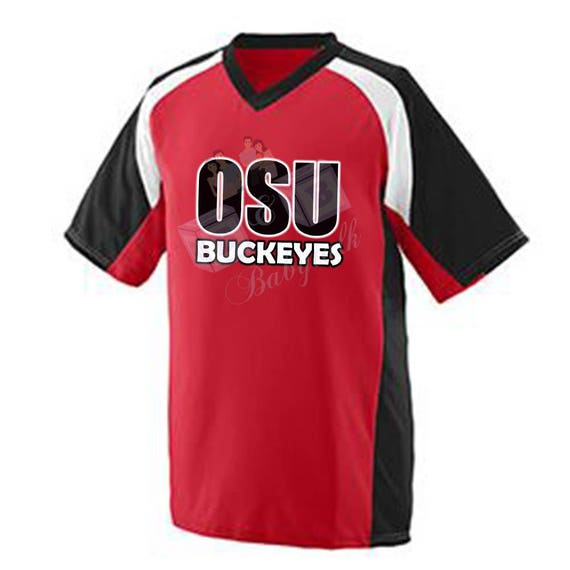 OSU Buckeyes Jerzee, OSU Shirt, Buckeye Shirt, Ohio State University Jerzee, Red Ohio State Jerzee, Ohio State University Buckeyes