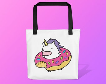 Donut Unicorn Tote Bag / Cute reusable bag / Gift Tote / Useful gifts