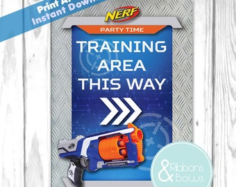 Nerf Party Sign Printable Instant Digital Download Jpeg & Pdf