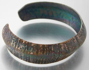 Hammered and Formed Copper Cuff