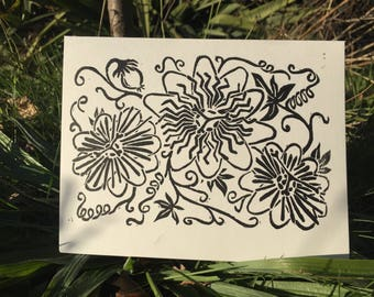 Passion Flower Celebration Card