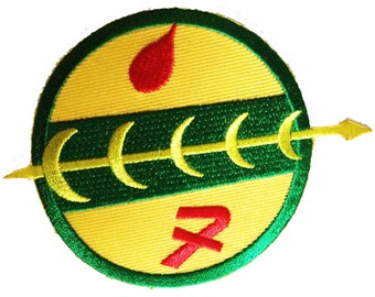Patch/Ironing-Star Wars-yellow/green-Ø 7 cm-by catch-the-Patch ® patch appliqué applications for ironing application patches patch