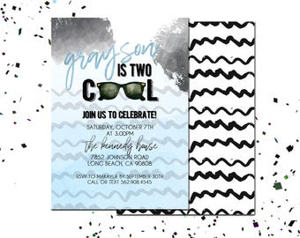 TWO Cool Birthday Invite