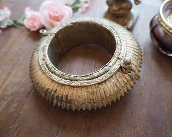 Antique Vintage Rare Indian Orissa Odisha Vishnu Chunky ATS Hippie Tribal Fusion Ethnic Cuff Bracelet