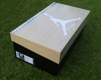 Jordan wooden grain shoe box.