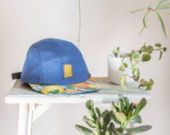 The BLUE LEMONADE - ColorClashCollection - Handmade 5 panels hat