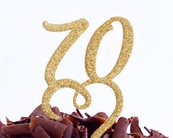 70 Birthday Party Cake Topper - 70 Cake Topper - Seventy Cake Topper - Seventieth Cake Topper - 70th Cake Topper - Same Day Dispatch