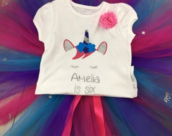 Unicorn tutu First Birthday Outfit, Cake Smash, girls birthday outfit, birthday tutu, cake smash outfit, unicorn, unicorn tutu unicorn party