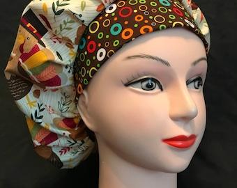 Surgical Scrub Hat Bouffant Thanksgiving/Fall