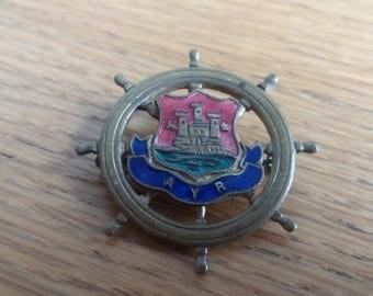 Vintage Ayr Scotland Scottish City Badge Brooch - Football - Chic Kitsch Boho 50s