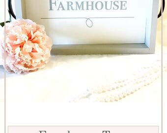Farmhouse Rustic Tray