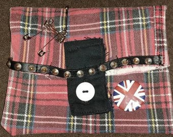 Punk Red Plaid FannyPack for your belt