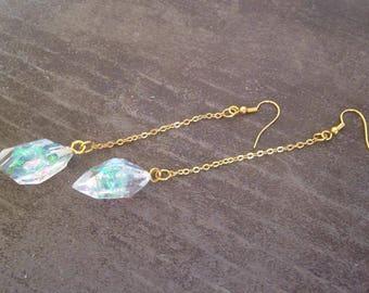 iridescent crystals drop dangle earrings