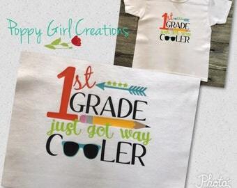 School Just Got way Cooler Kindergarten First Second Preschool Kids shirt
