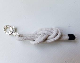 NAUTICAL ROPE KEYCHAIN / Knot / Black