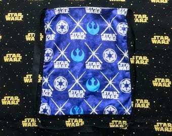 Nerditotes Handmade Handsewn Star Wars Galactic Empire Rebel Alliance Messenger Tote Bag