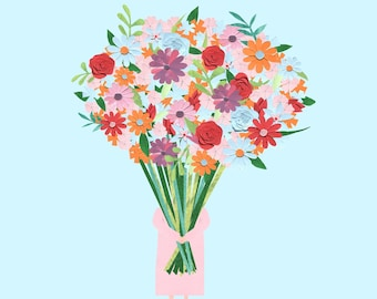 Mothers Day Card - Mum you're blooming brilliant!