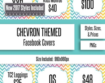 Chevron Facebook Album Covers | Styles, Prices, and Sizes | New Styles Included