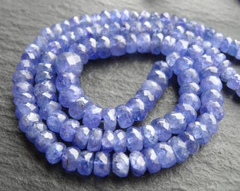 "Tanzanite cut rondelles, 4mm - 6mm, 16.5""/42cm string, 120 beads (3216)"