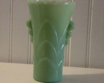 Vintage Jadeite Deco Vase