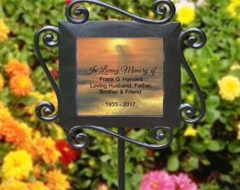 Personalized in Loving Memory Of Garden Stake Jesus Memorial Garden Plant Marker