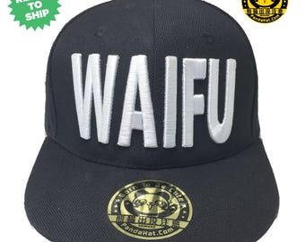 Waifu Snapback Puffy Embroidery Hat