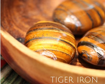 Tiger Iron Tumbled Oval Stones
