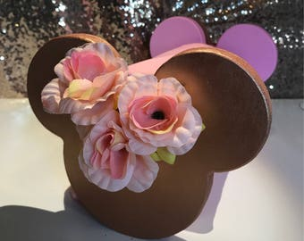 Mouse Ear Display Holder Rose Gold Millennial Pink 20 or 30cm