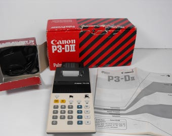 Canon P3-DII Palm Printer/Calculator with Adaptor  (1195)