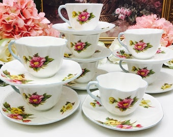Shelley Begonia Dainty teacup and saucer