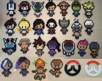 Overwatch 2D Pixel Hama Beads Wall Art Logo Characters
