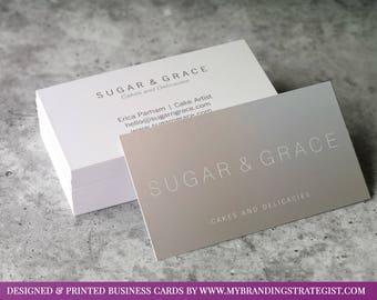 Custom Business Card Design + Print & Ship! Business Card, Custom Design, Business Card, Both Sides