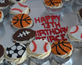 Sports Cupcake Toppers