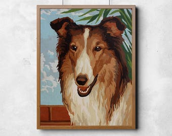 Paint by Number Dog Poster: Collie