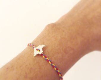 Bracelet with Colombia map