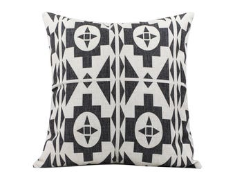 Aztec decorative pillow cover Tribal throw pillow covers Navajo pillow case Black and white pillow cases Home decor gift 18x18