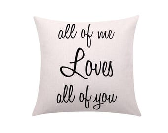 Valentines pillow covers Quote throw pillow covers Letters decorative pillow case Words cushion cover Valentines gift Sofa home decor 18x18