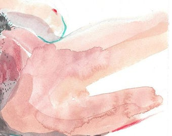 MEANINGFUL Original artwork, watercolor and drawing, coitus # 4, 14.9 x 21cm, Canson sketch paper 90g