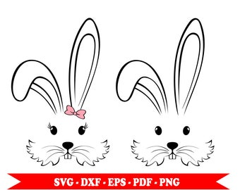 Rabbit, Bunny svg, svg clip art in digital format, eps, dxf, png, pdf. For Cricut, Silhouette cutting file Cameo, vinyl.