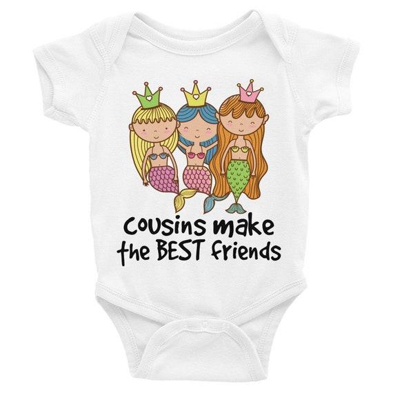 Cute cousin onesies, mermaid onesie, cousins shirt, cousins, cousins best friends, cousins baby onesie, cousins shirts, gifts for cousins