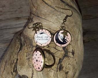 """""""Star fairy"""" earrings and ring set"""