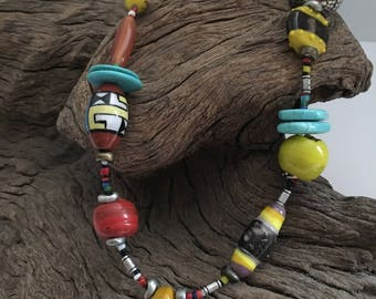 Boho Style Multi Color Necklace
